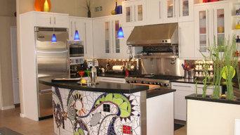 Mosaic Kitchen Island