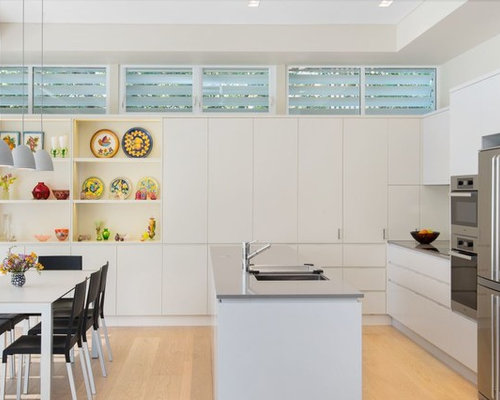 Design Ideas For A Small Contemporary Galley Eat In Kitchen Sydney With An Undermount