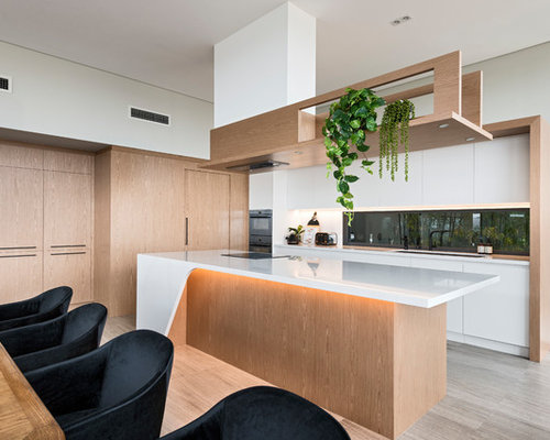 Inspiration For A Large Modern L Shaped Eat In Kitchen In Perth With An
