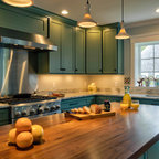House Crashers- Painted Shaker Cabinets - Eclectic ...