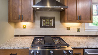 Motawi accent tiles kitchen remodel