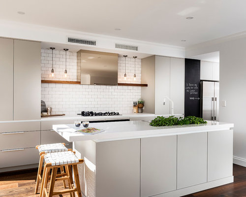 this is an example of a scandinavian single wall kitchen in perth with a drop - Scandinavian Kitchen Design