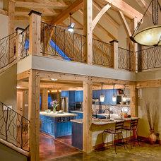 Rustic Kitchen by Fieldwork Architecture