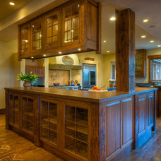 Rustic Kitchen by Bear Mountain Builders