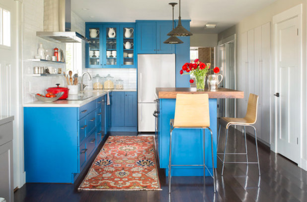 Transitional Kitchen by Red Pepper Design & Cabinetry
