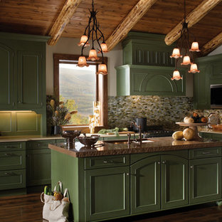 Example of a classic kitchen design in Other