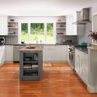 Mid Sized Transitional Kitchen Inspiration   Inspiration For A Mid Sized  Transitional U