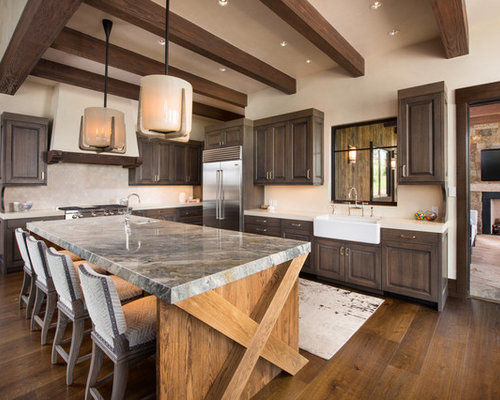 rustic kitchen cabinet designs. Huge rustic kitchen inspiration  l shaped brown floor and dark wood 11 Best Rustic Kitchen Ideas Decoration Pictures Houzz