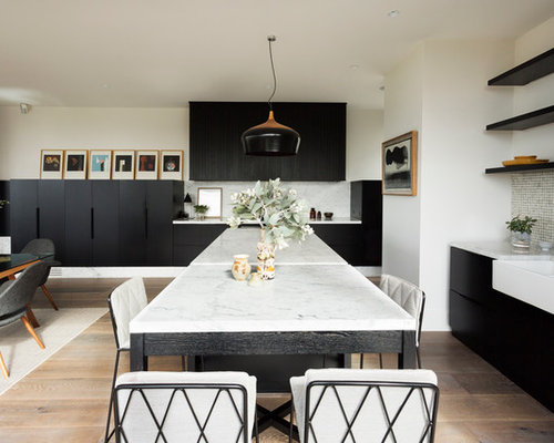 this is an example of a large scandinavian l shaped eat in kitchen in - Scandinavian Kitchen Design