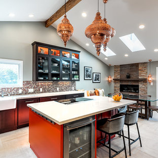 Mountain View stylish Kitchen and dining room