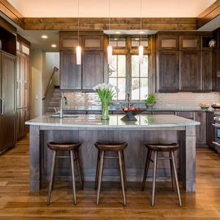 Rustic Kitchen Ideas   Inspiration For A Rustic Medium Tone Wood Floor Kitchen  Remodel In Other