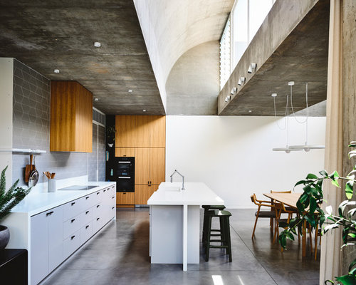 75 Trendy Kitchen with Concrete Floors Design Ideas - Pictures of ...