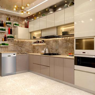 Mr. Sunny Roy's Luxury Modern Kitchen | Kolkata West Bengal | CDI