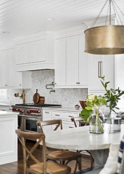 Transitional Kitchen by Designstorms LLC