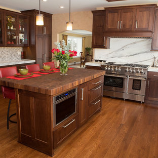 Mt. Prospect Kitchen Addition with Walnut Cabinets