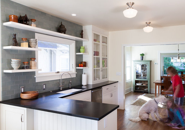 Simple Transitional Kitchen by Howells Architecture Design LLC
