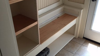 Mud Room Built in bench and shelf unit