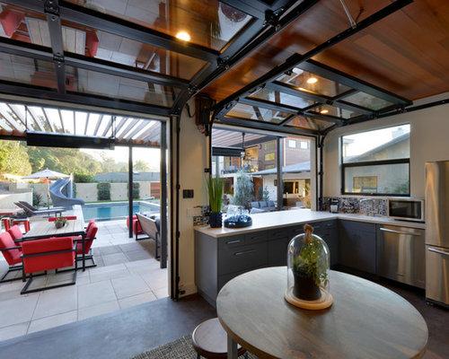 53 122 garage door window kitchen design ideas remodel for Garage style kitchen window