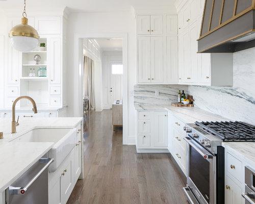 Küchen mit Rückwand aus Stein in Louisville Ideen, Design & Bilder ...