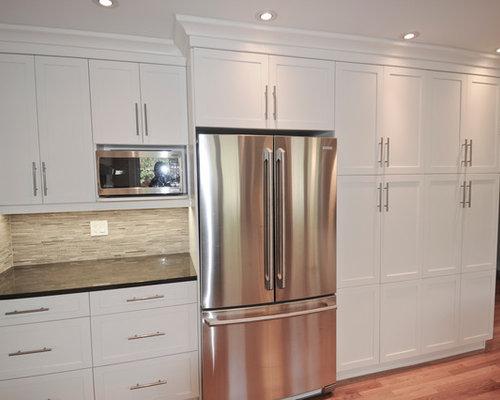 k chen mit r ckwand aus st bchenfliesen in ottawa ideen. Black Bedroom Furniture Sets. Home Design Ideas