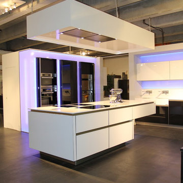 Munich, Germany   Glass Fronts Kitchen and LED Backlighting
