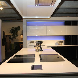 Munich, Germany | Glass Fronts Kitchen and LED Backlighting