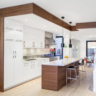 Open Concept Kitchen Contemporary Single Wall Idea In Toronto With An