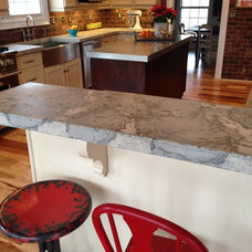 Rustic Kitchen by Stone-Crete Artistry
