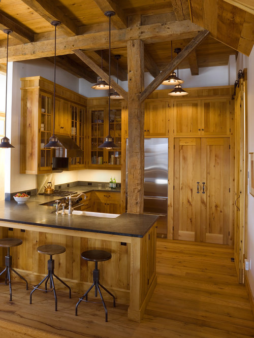 Barn kitchen ideas pictures remodel and decor for Log home kitchen designs