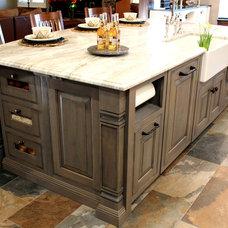 Transitional Kitchen by Edmond Kitchen & Bath LLC
