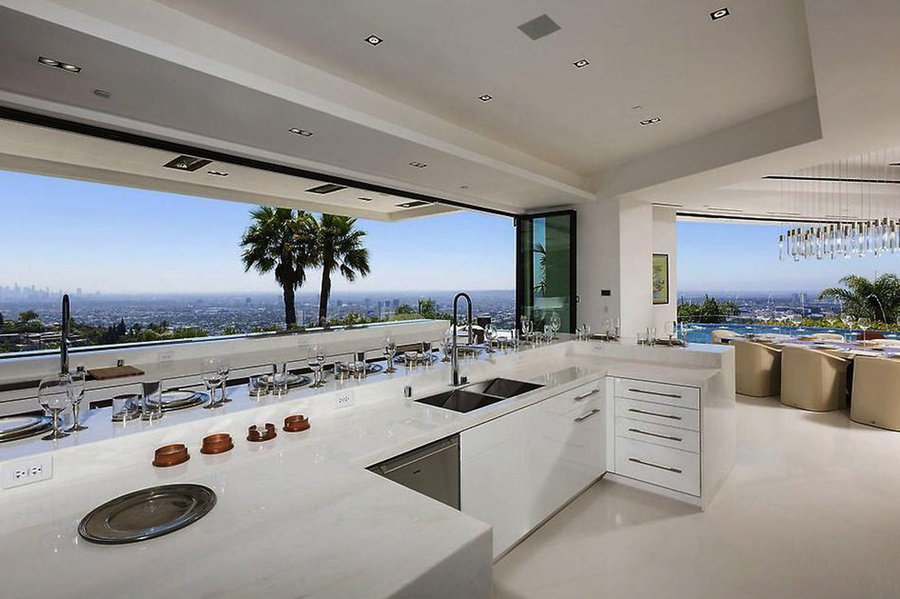 My Contemporary Kitchen Design for a large home at 1181 Hillcrest Dr.,B.H. ,CA.