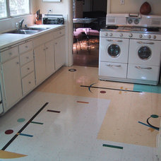 Midcentury Kitchen by Crogan Inlay Floors