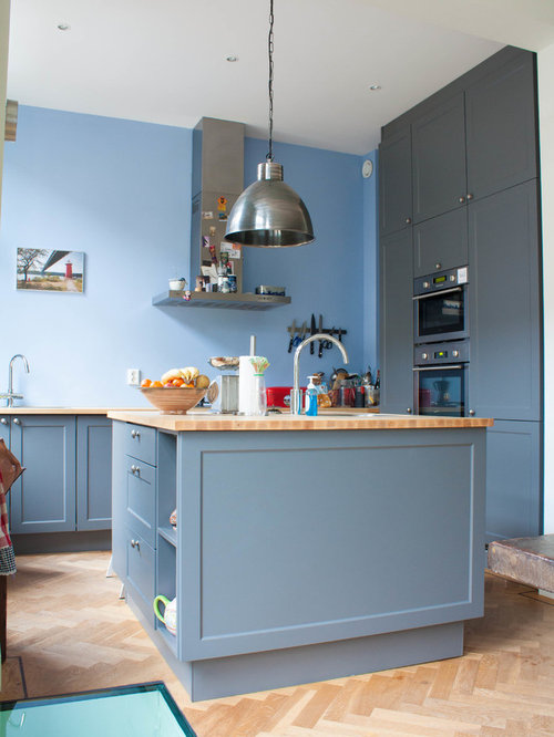 Painted Blue Grey Cabinets Ideas, Pictures, Remodel and Decor