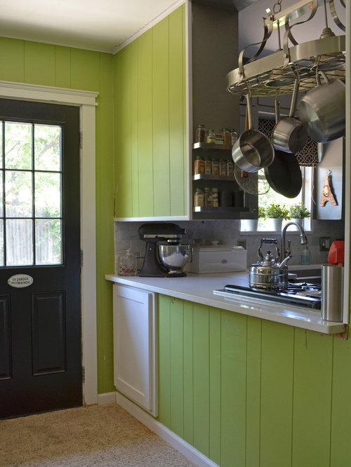Painted Paneling Kitchen Design Ideas & Remodel Pictures | Houzz