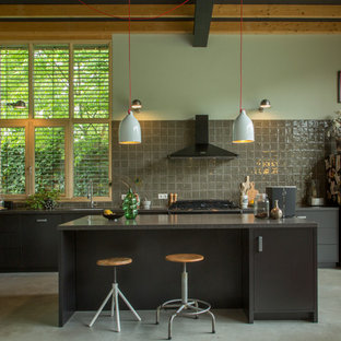 Contemporary kitchen designs - Example of a trendy kitchen design in Amsterdam