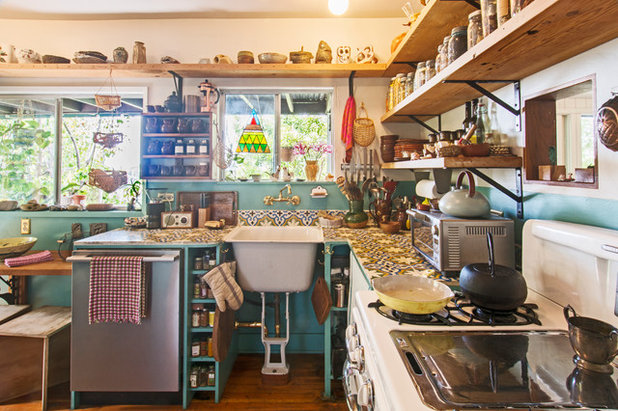 clever kitchen design. Eclectic Kitchen by Carolyn Reyes Personal Style  50 Clever Real Life Design Details
