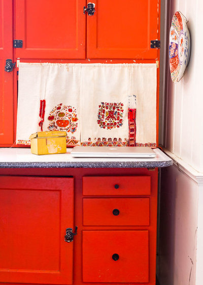 Farmhouse Kitchen by Rikki Snyder - Must-Know Furniture: The Hoosier Cabinet