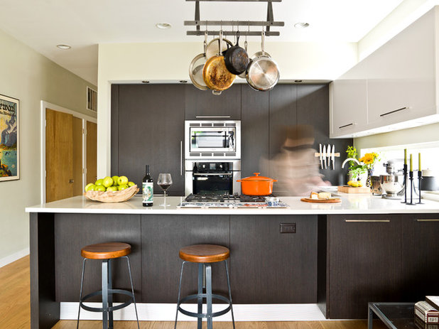 Contemporary Kitchen My Houzz: An Opposite-Tastes Couple Finds a Happy Medium