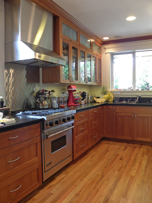 Craftsman style wood floor houzz for Mission style flooring