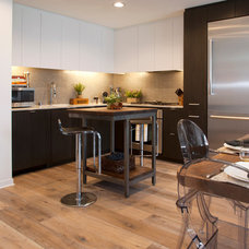 Transitional Kitchen by Margot Hartford Photography