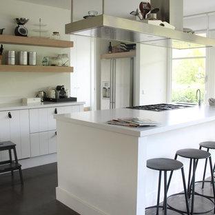 Contemporary kitchen ideas - Kitchen - contemporary kitchen idea in Amsterdam with stainless steel appliances