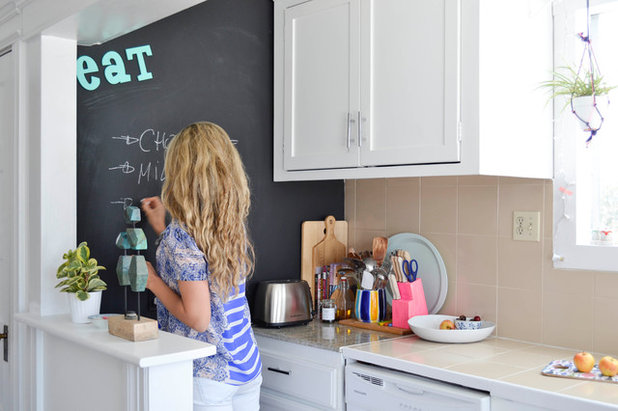 Eclectic Kitchen by Planning Pretty
