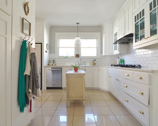 Kitchen Island Quartz white quartz kitchen island | houzz