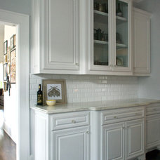 Transitional Kitchen by Hilary Walker