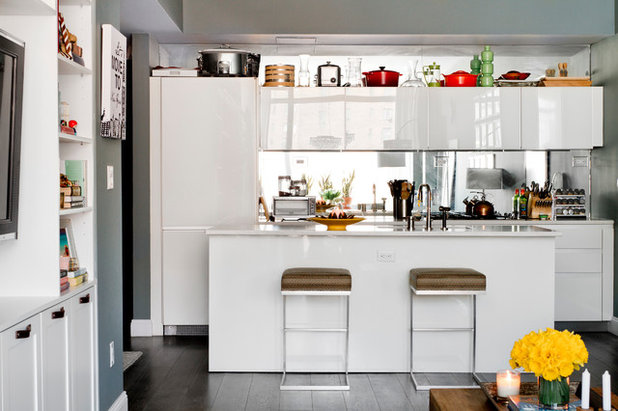 My Houzz: Smart Storage and Bold Colour in a Compact New York Apartment
