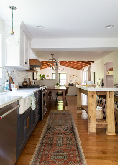 Transitional Kitchen by Rachel Loewen Photography