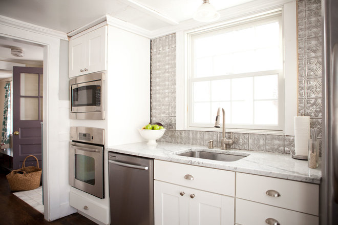transitional kitchen by Tess Fine