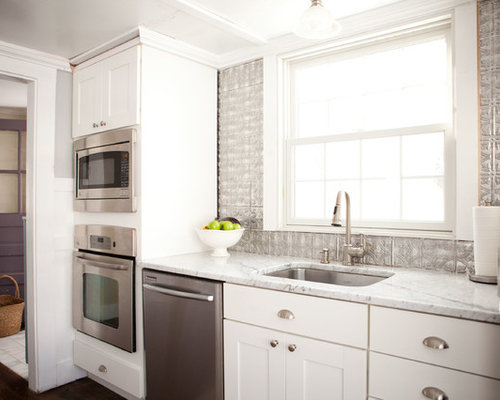 Faux Tin Kitchen Backsplash Houzz