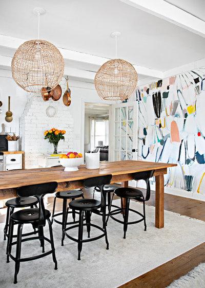 Shabby-chic Style Kitchen by Caroline Sharpnack
