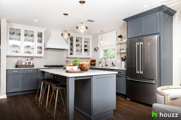 Transitional Kitchen by Stephanie Gamble Interiors